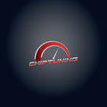 Car chip tuning red color vector logo design Royalty Free Stock Photo