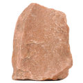 Red Granite Stone Isolated on White Background Stock Image