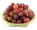 Red grape in basket Stock Photography