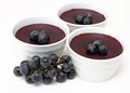 Red grape pudding Stock Photo