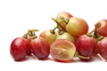 Red grape on white background Stock Photos