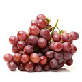 Red grape on white background Royalty Free Stock Photo