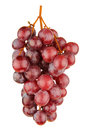 Red grapes isolated on white a Stock Photography