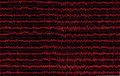 Red graph brain wave eeg  on black Stock Image
