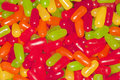 Red, grean, yellow and orange candy treats. Stock Photography