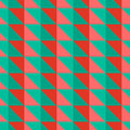 Red and green abstract pattern with triangles