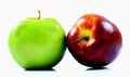 Red and green apple Royalty Free Stock Images
