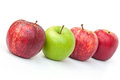Red and green apples royal gala granny smith Royalty Free Stock Photos