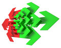 Red and green arrows Royalty Free Stock Images