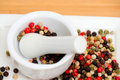 Red Green And Black Peppercorns Royalty Free Stock Photography