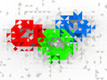 Red Green Blue Abstract Design Stock Photos