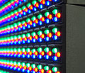 Red green blue of LED components on screen Royalty Free Stock Photo