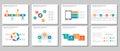 Red green blue orange multipurpose infographic presentation and element flat design set 2