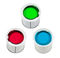 Red, green and blue paint Royalty Free Stock Photo