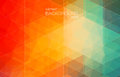 Red and Green bright color background with triangle shapes for web design Royalty Free Stock Photo