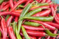 Red & Green Chillies Royalty Free Stock Photo