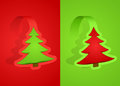 Red and green christmas cards Royalty Free Stock Images