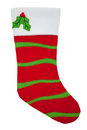 Red and green Christmas stocking Royalty Free Stock Photo