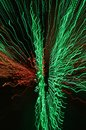 Red and Green Colorful Background of Beautiful Warp Worms Royalty Free Stock Photo