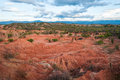 Red and Green Desert Landscape Royalty Free Stock Images