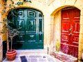 Red and Green Doors Gozo