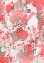 Red, green and gray abstract hand painted background