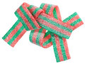 Red and green gummy candy (licorice) band Stock Photos