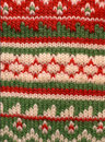 Red Green Knit Background