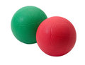 Red and green medicine ball Stock Images