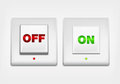Red and green ON/OFF button Stock Images