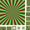 Red green ray burst background set Royalty Free Stock Photo