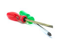 Red and green screw driver Stock Image