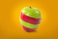 Red and green sliced apple Royalty Free Stock Photo