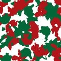 Red, green and white UFO Christmas camouflage