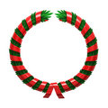 Red green wreath Stock Photos