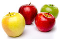 Red, green and yellow apples Royalty Free Stock Photo