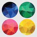 Red, green, yellow and blue geometric Royalty Free Stock Photo