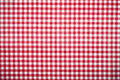 Red grid table cloth pattern Royalty Free Stock Photo