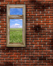 Red Grunge Brick Wall Frame Background Texture Royalty Free Stock Photo