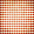 Red grunge picnic tablecloth background checked Royalty Free Stock Image