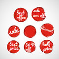 Red grunge sale tags