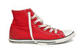 Red gym shoes. Royalty Free Stock Image
