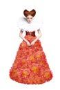 Red Hair Duchess. Retro Fashio...