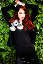 Red hair fashion woman Stock Photos