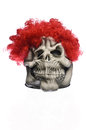 Red hair ghost mask with clown Stock Photography