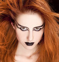 Red-haired female model Royalty Free Stock Photos