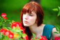 The red-haired girl Stock Photography