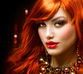 Red Haired Girl Stock Photography