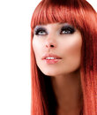 Red Haired Model Portrait Royalty Free Stock Images