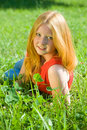 Red-haired teen girl Stock Photo